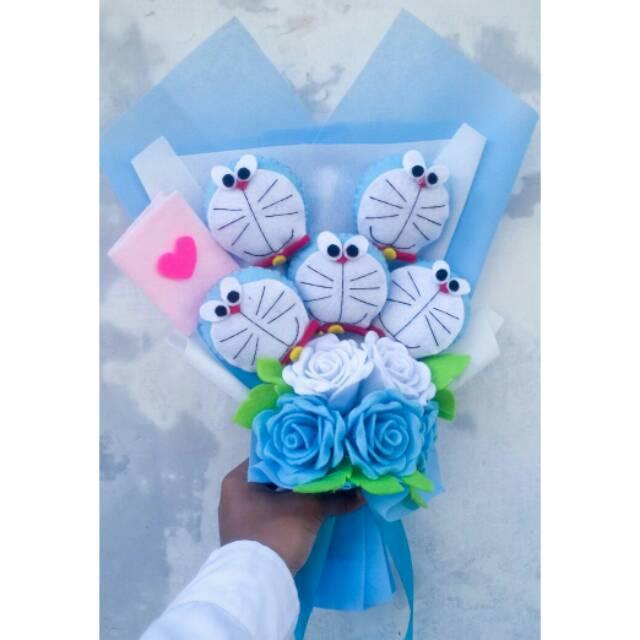 Buket Bunga Doraemon Kado Valentine   Anniversary   Wisuda   Ulang Tahun  85a1edf643