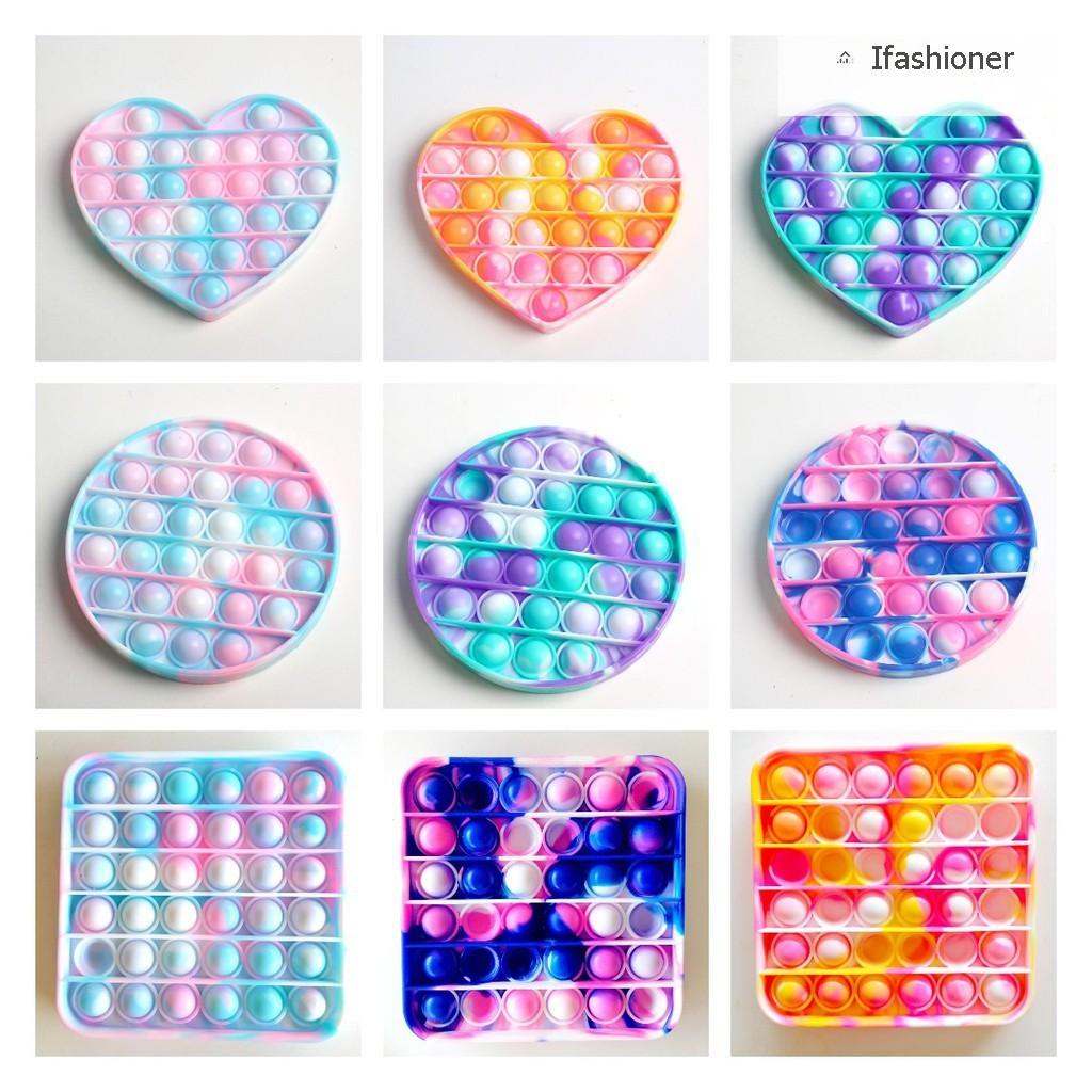 Pop It Murah Tiktok Rainbow Unicorn Square Heart Push Pop Mainan Sensory Fidget Pop It Toy Bubble Mainan Edukasi Anak 1 2 3 4 5 Tahun Stress Relief Special Needs Silent Classroom Tiktok Board Game Mainan