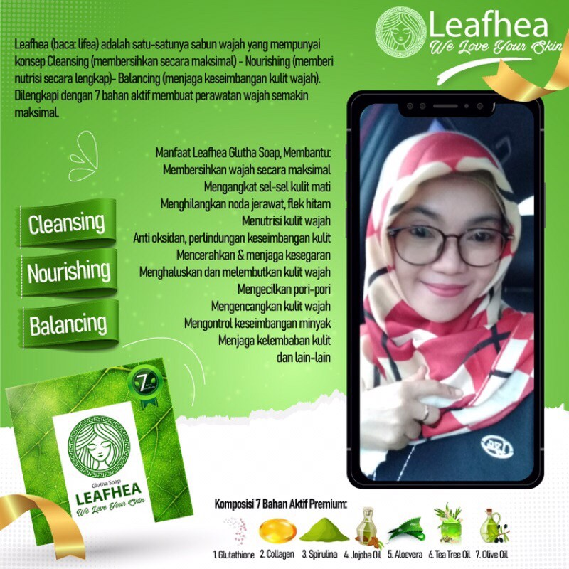 Sabun Leafhea Sabun Yang Bagus Banget No Mercury Sekaligus Cleansing Shopee Indonesia