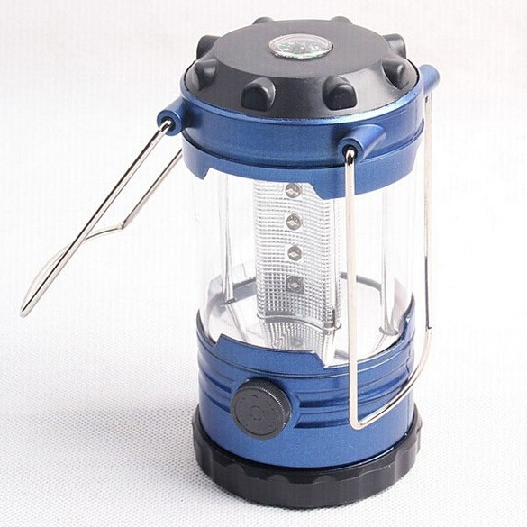 Adjustable LED Light Hiking Bivouac Camping Lantern Tent Lamp with Compass L/&6