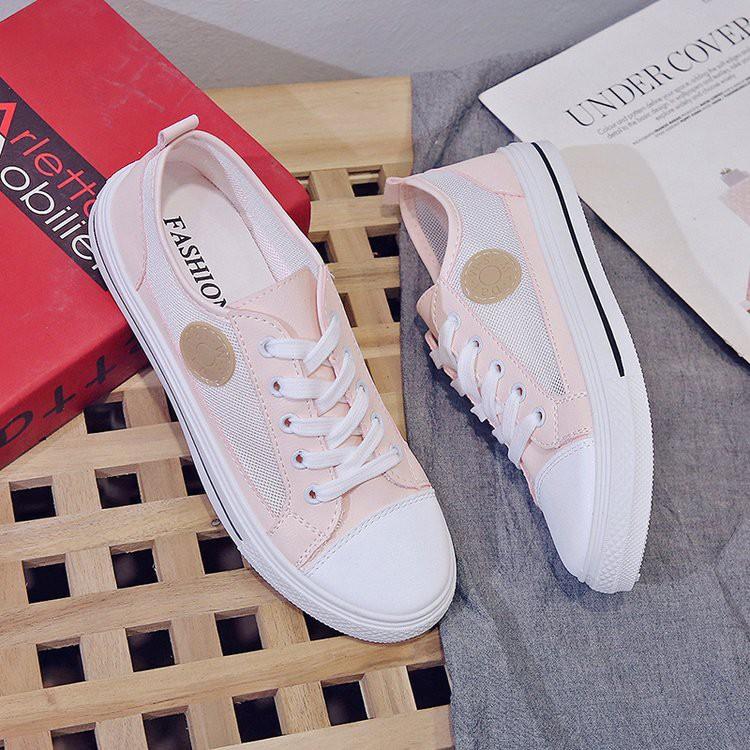 Sl662 Pink Yellow Sepatu Wanita Import Sneakers Import Murah