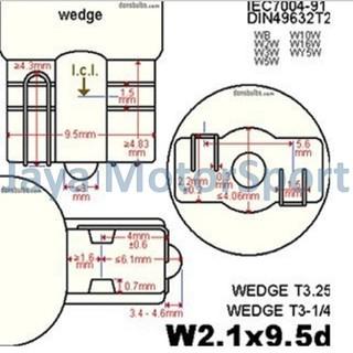 ... Lampu LED Mobil / Motor / Senja T10 w5w / Wedge Side COB 2W - Yellow. suka: 6