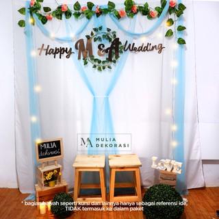 dekorasi lamaran tunangan backdrop nikahan photobooth diy