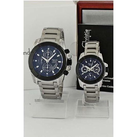 jam tangan original coupleAlexandre Christie AC 6226 MC BF SVBL