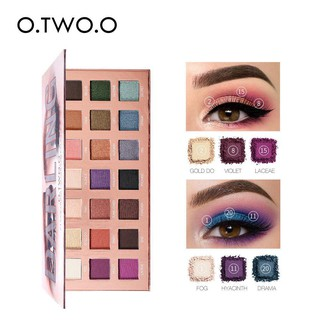 O.TWO.O 21 Color DARLING Drama Dream Eyeshadow Compact Palette With Mirror Kaca 5