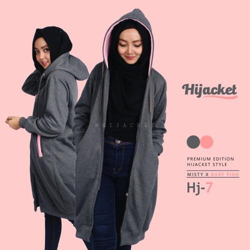 Jaket Muslimah Sporty - Sky Pink - High Quality - Original  28644a2a46