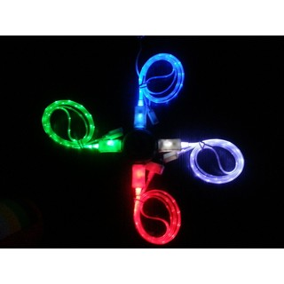 LED Light USB Sync Data Charger Cable For Android iPhone 6