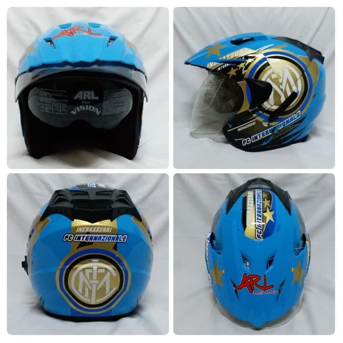 Helm Half Face SNI Centro ARL double visor dan ada slot anti maling | Shopee Indonesia