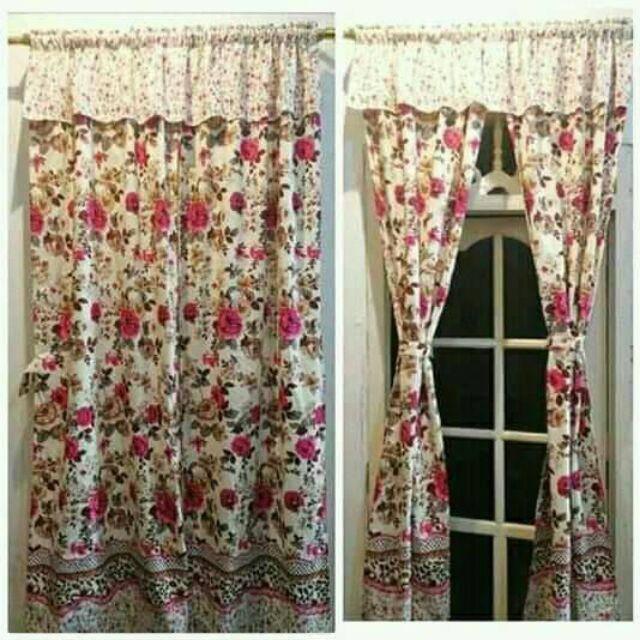 Model Gorden Pintu Tengah gorden serut pintu gorden poni hordeng renda belah tengah ukuran 140 x 200
