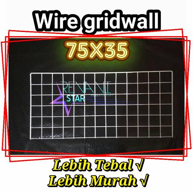 Wire Grid Wall 75x35 Diy Room Decor Pajangan Dinding Hijang Poto Polaroid Notes Hiasan Gridwall Shopee Indonesia