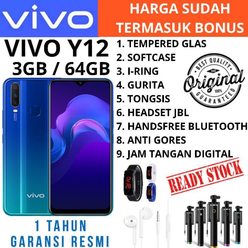 VIVO Y12i Y12 i 3/64 RAM 3 ROM 64GB GARANSI RESMI VIVO 1 TAHUN