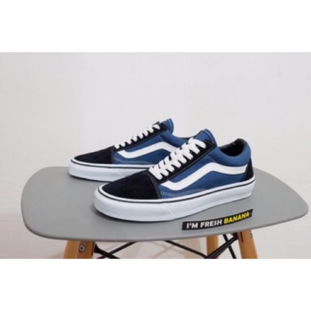 88fd0df7dce285 Sepatu Vans Old Skool Vault x WTAPS Full All Navy Blue Dress Blue DT ...