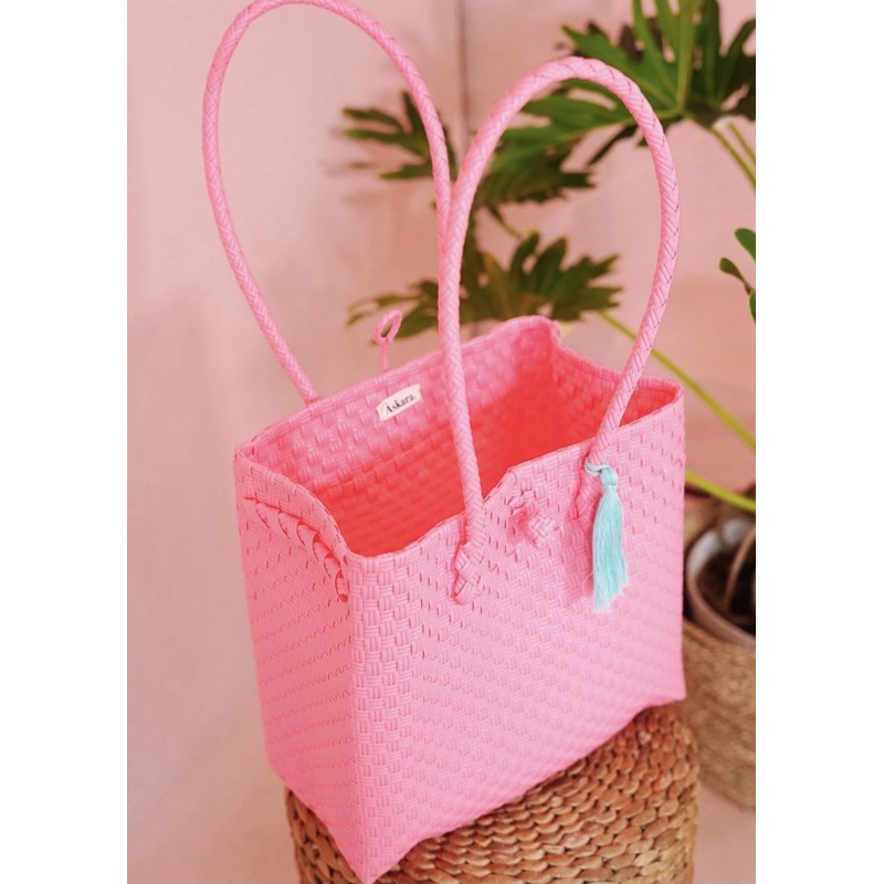 Adhisty Strawberry S – ASKARA (Tas Tote Tas Anyam Tote Bag)