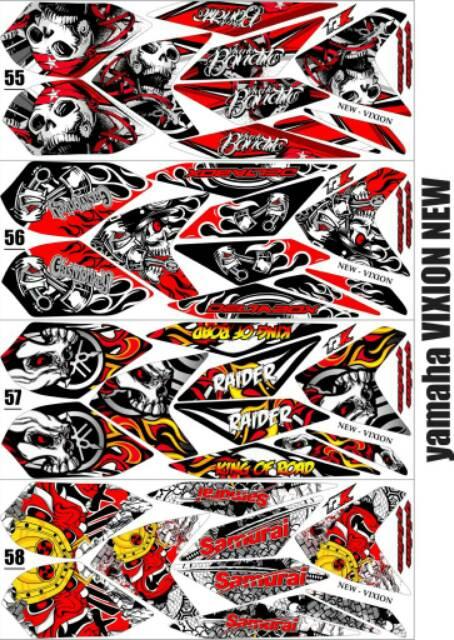 Sticker Striping Variasi Animasi Vixion New 2013 2016 Nva Nvl Shopee Indonesia