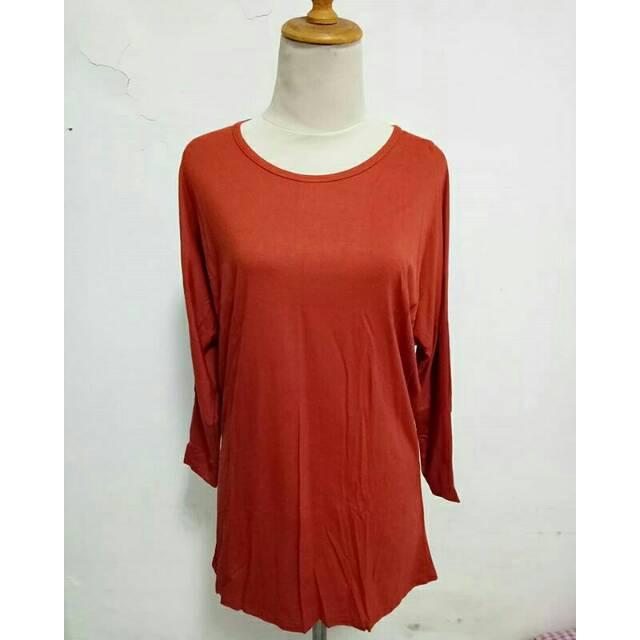 Ksos Batwing oren . Panjang 72cm baju jumbo  fd8322db0e