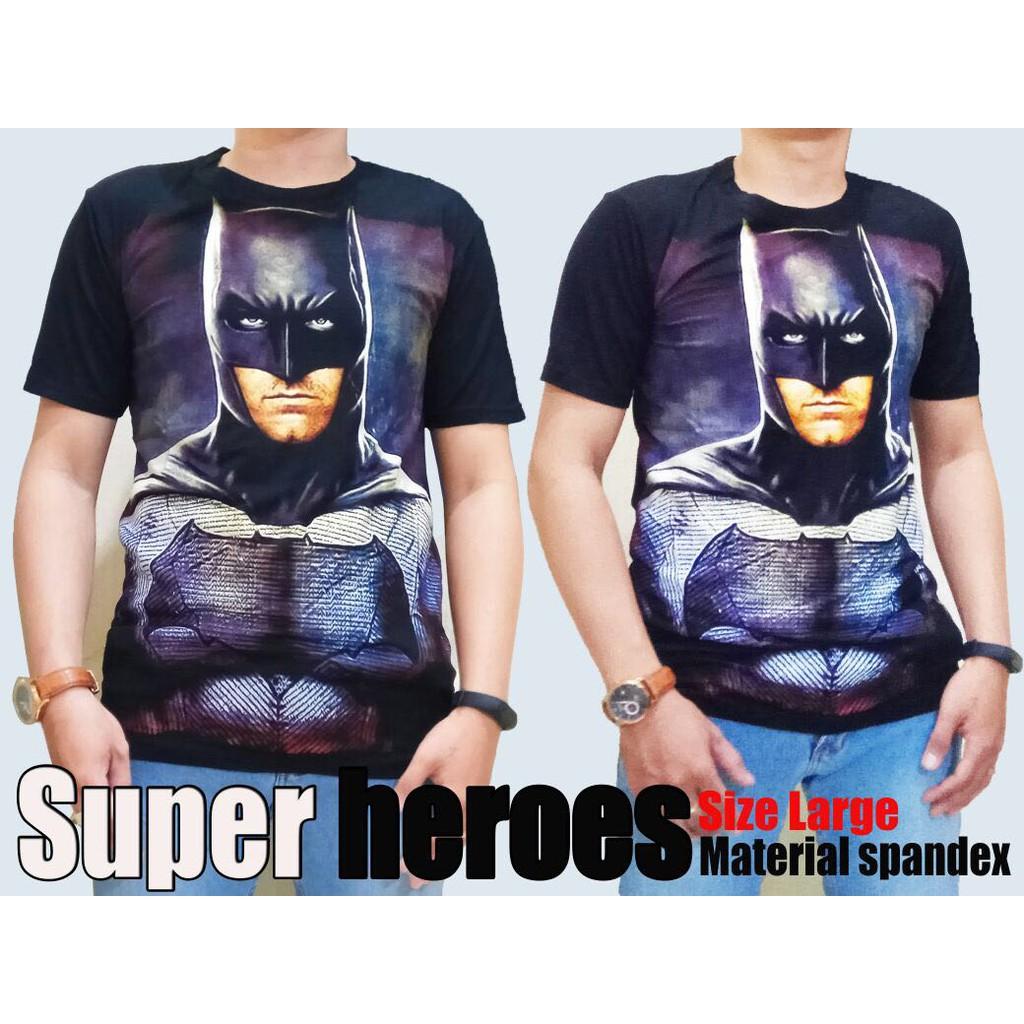 Murah Baju Kaos Cowok Distro Batman Keren Spandex Terjangkau Kaoos Spaandex Shopee Indonesia