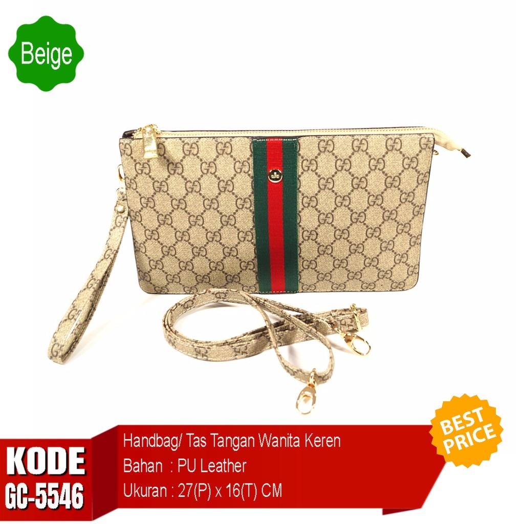 Tas Tangan Wanita Gc 5546 Pesta Clutch Selempang Import Shopee Indonesia