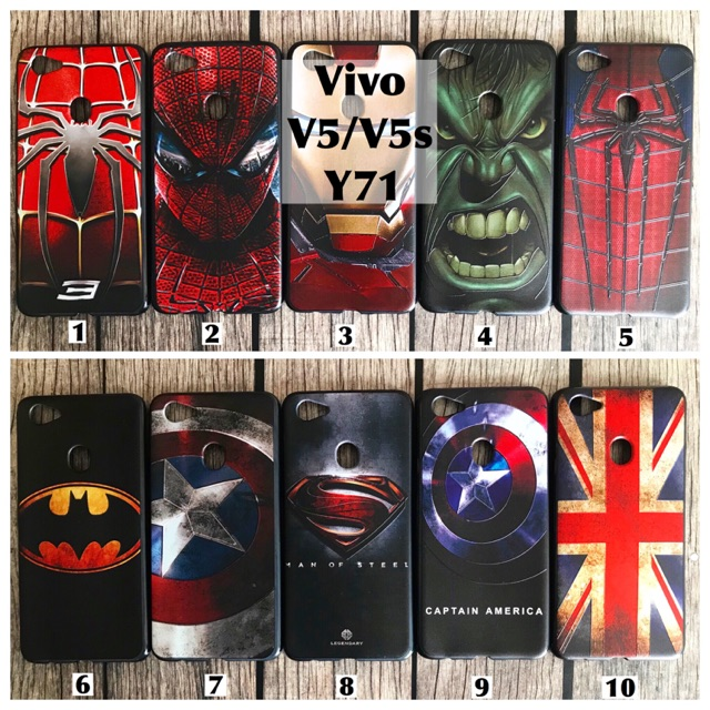Softcase case vivo Y71 spiderman iron man hulk batman captain America superman bendera | Shopee Indonesia