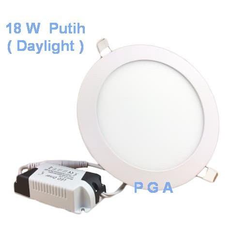 Lampu Led Panel Bulat 18w Putih