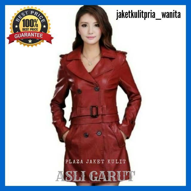 Jaket Kulit Asli Bahan kulit domba kualitas super model jas panjang model  jubah warna hitam black  0c351604ad
