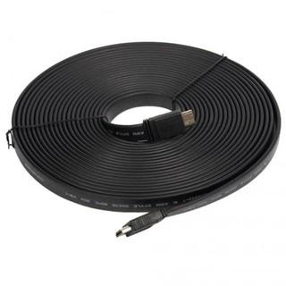 Kabel Hdmi To Hdmi 15M Flat Versi 1.4 3D 1080P 15 M Male To Male - Hitam