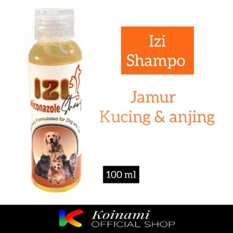 SHAMPO IZI miconazole 100 ml  ANTI JAMUR & KUTU kucing anjing / tick and flea shampoo cat dog