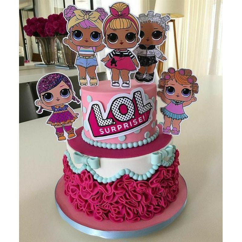 Topper Kue Ulang Tahun LOL
