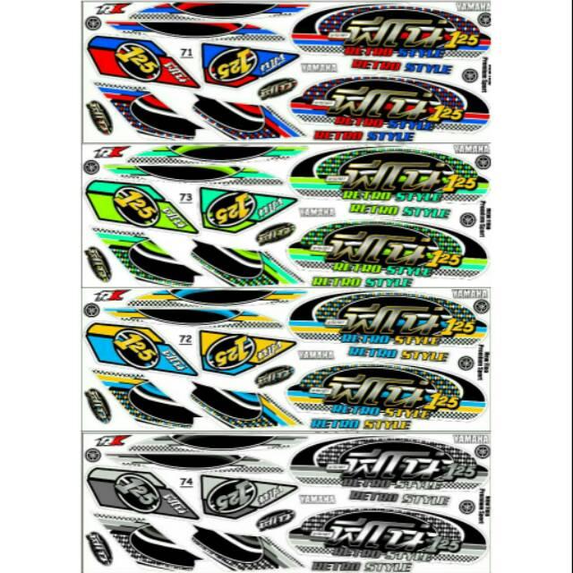 Sticker Striping Variasi Thailand / Thailook Supra X 125 Fi (WAVE R 125i)  