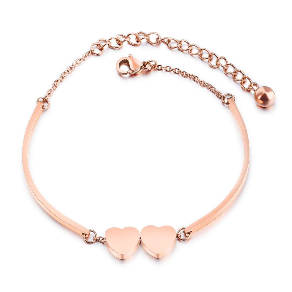 OLEVS Perhiasan gelang emas wanita berbentuk hati | Shopee ...