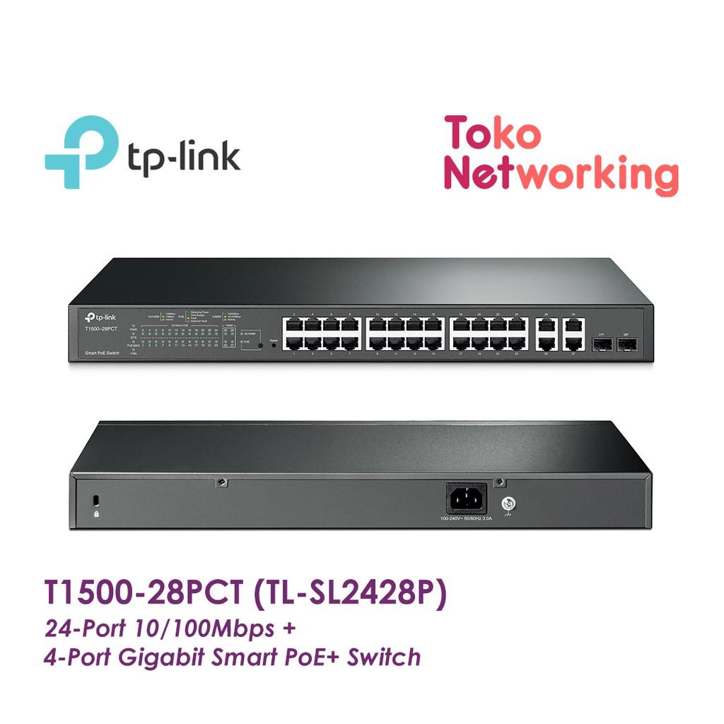 Smart Switch TP-Link T1500-28PCT TL-SL2428P 24-Port 4-Port Gigabit PoE