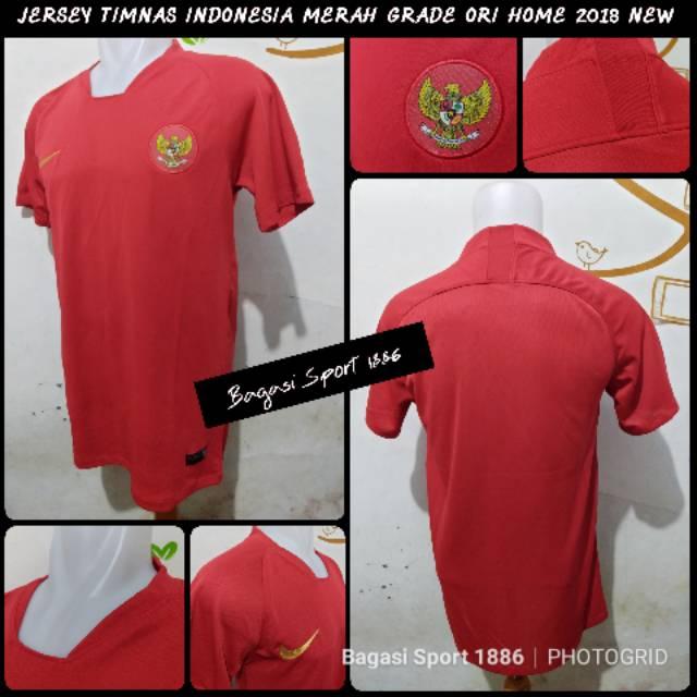 Jual Jersey Baju Bola Timnas Indonesia Indo Merah Home Li-Ning Merah Asian Games 2018 grade ori GO   Shopee Indonesia