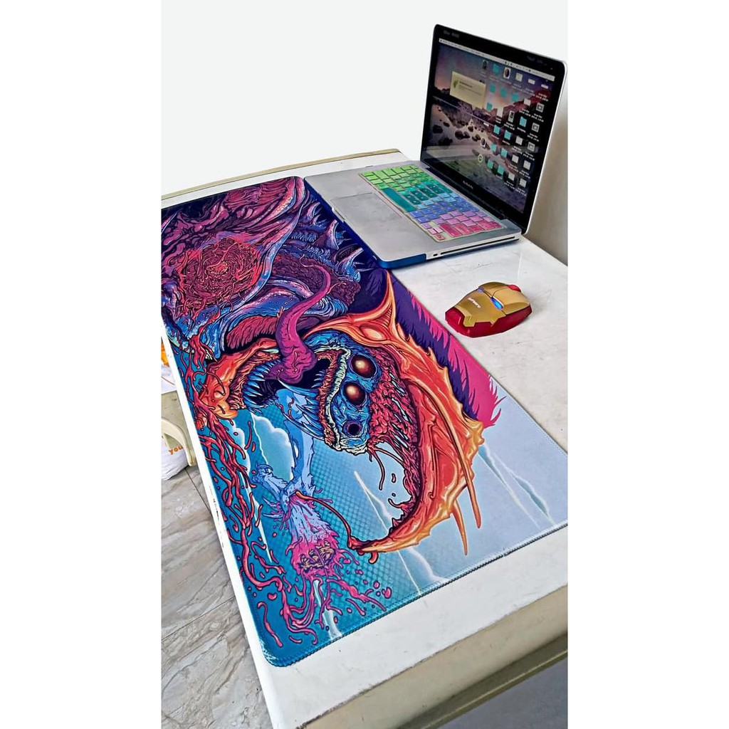 Game 900*400*3MM Rubber Game Mouse Pad Mat Large XL Size Wolf Desk Mat For Mouse