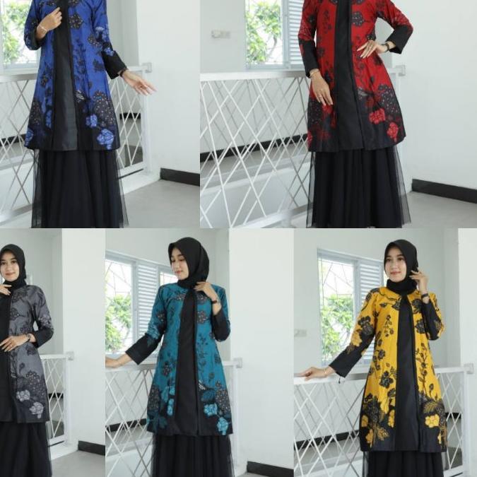 Promo !!! Tunik Batik Guru Wanita • Seragam Batik Guru • Seragam Kerja Kantor • Baju Batik Wanita •B