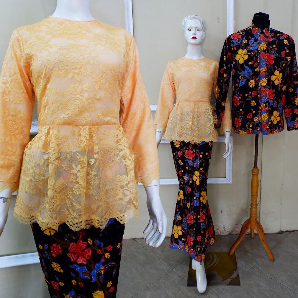 Couple Kebaya Pesta Tunangan Lamaran Cantik Batik Modern Set Baju Terbaru