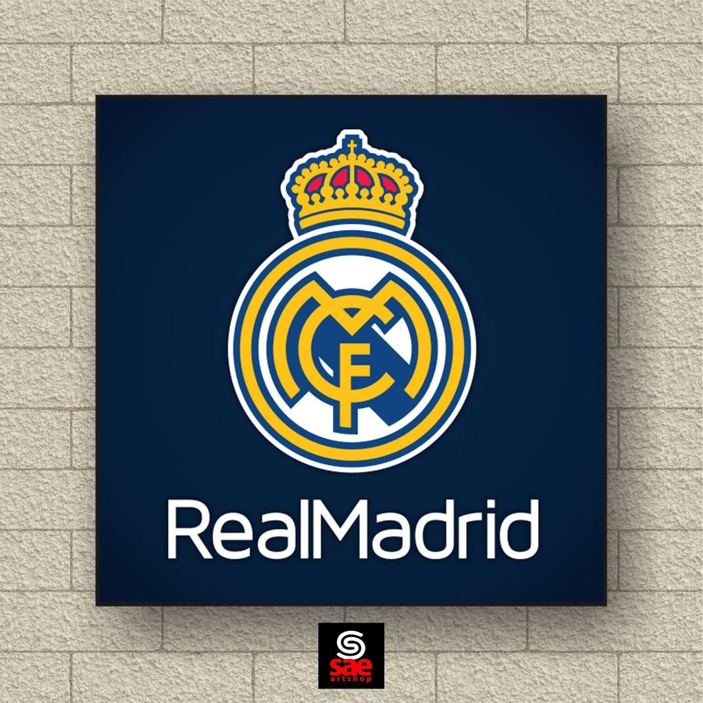 Hiasan Dinding Logo Sepak Bola Real Madrid Baru