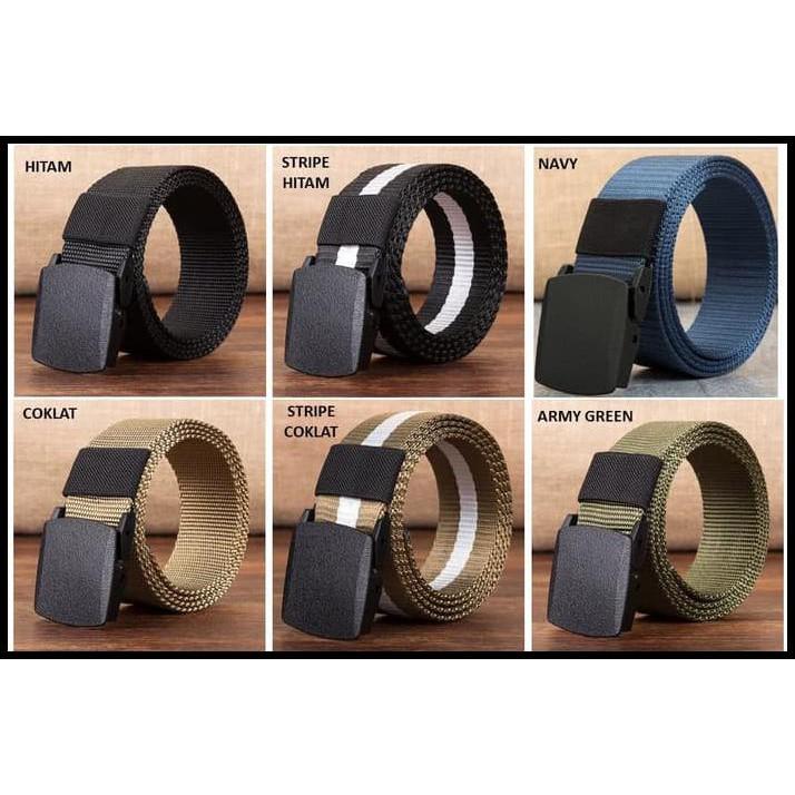 Ikat pinggang canvas tactical military belt anti metal detector - KEN | Shopee Indonesia