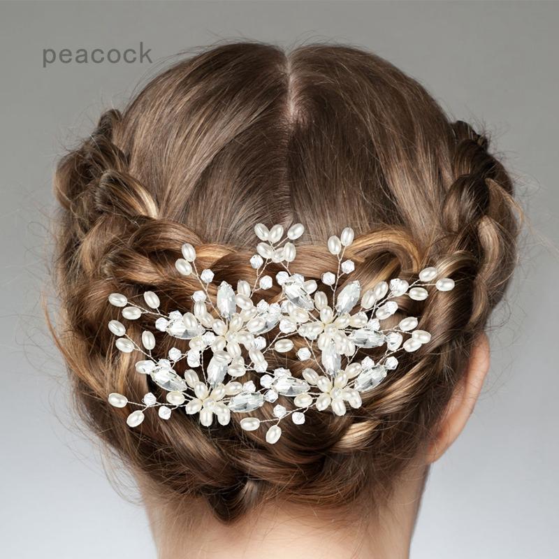 Bridal Wedding Pearl Hair Pin Bridal Hair Accessories Silver Hair Accessories For Ladies And Girls Shopee Indonesia
