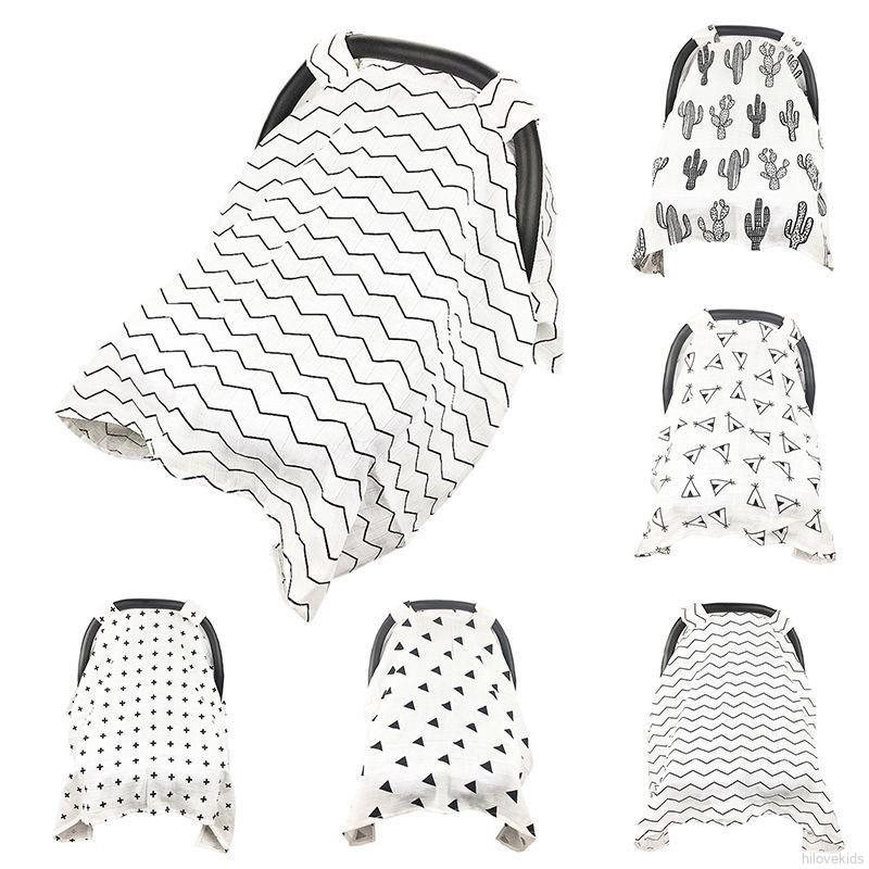 Baby Stroller Car Muslin Sun Shade Seat Cover Breathable Canopy Blanket