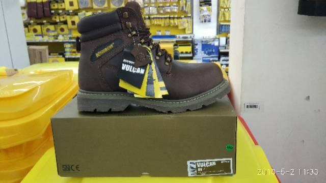 Safety Shoes Original Krisbow Vulcan Full Kulit Warna Coklat