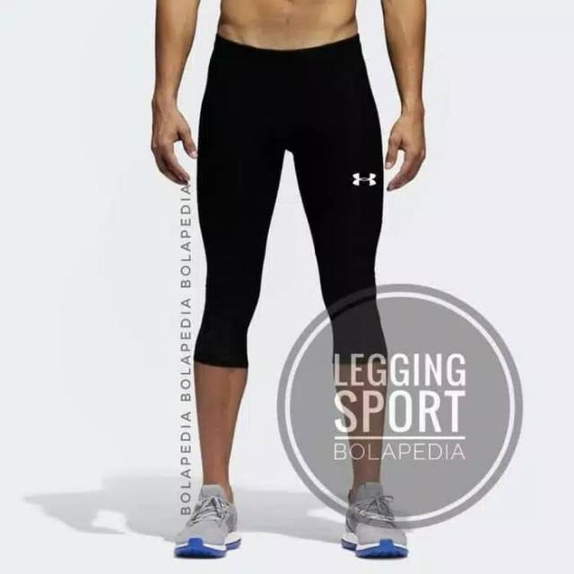 Celana Legging Pria Sport 3 4 Futsal Gym Training Shopee Indonesia