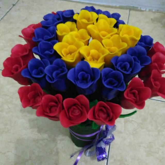 Bunga Sabun Tulip Mekar Shopee Indonesia