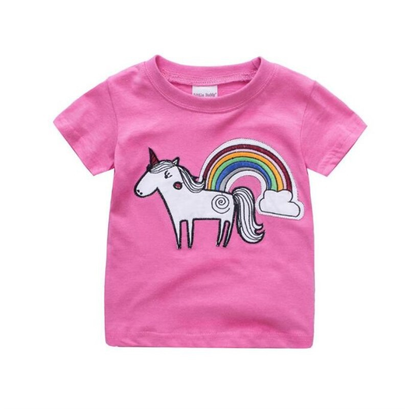Cute Unicorn Horse Pony Pink  Girl 5th Birthday Tutu Outfit Shirt Set Party