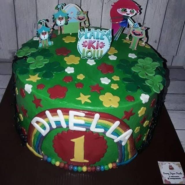 Cake Ultah Kue Tart Bolu Ulang Tahun Blackforest Vanilla Karakter Kartun