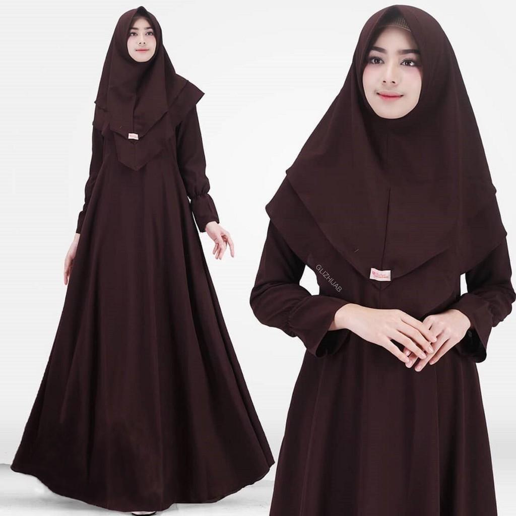Belanja Online Dress Muslim Fashion Shopee Indonesia Tunik Baju Wanita Atasan Sabrina Sweater Maelo Maroon