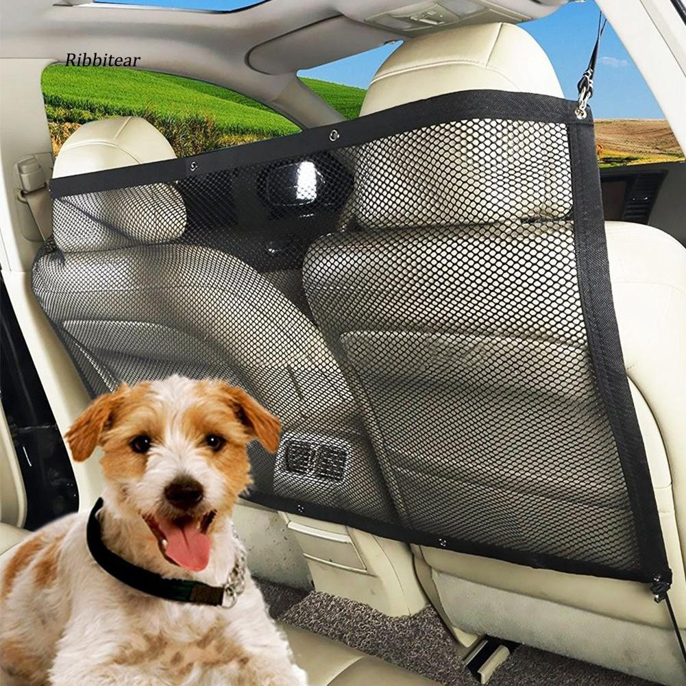 Universal Dog Guard Adjustable Safety Travel Dog Pet Headrest Car Mesh Barrier