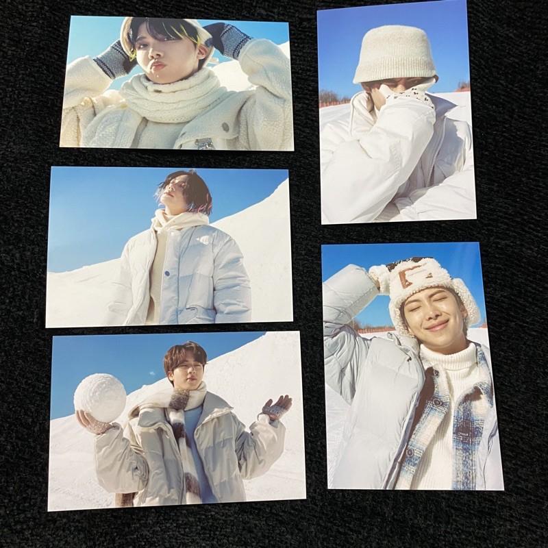 OFFICIAL BTS WINTER PACKAGE WINPACK 2021 RM JIN SUGA JHOPE JIMIN V JUNGKOOK PHOTOSET 4x6 PC