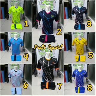 Mizuno Atom Baju Kaos Olahraga Jersey Bola Setelan Futsal / Volly