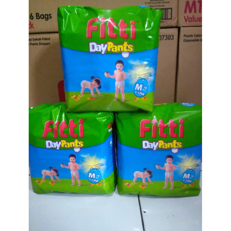 Mamy Poko - Popok & Diaper - Pampers Fitti Day Pants M18 Promo | Shopee Indonesia