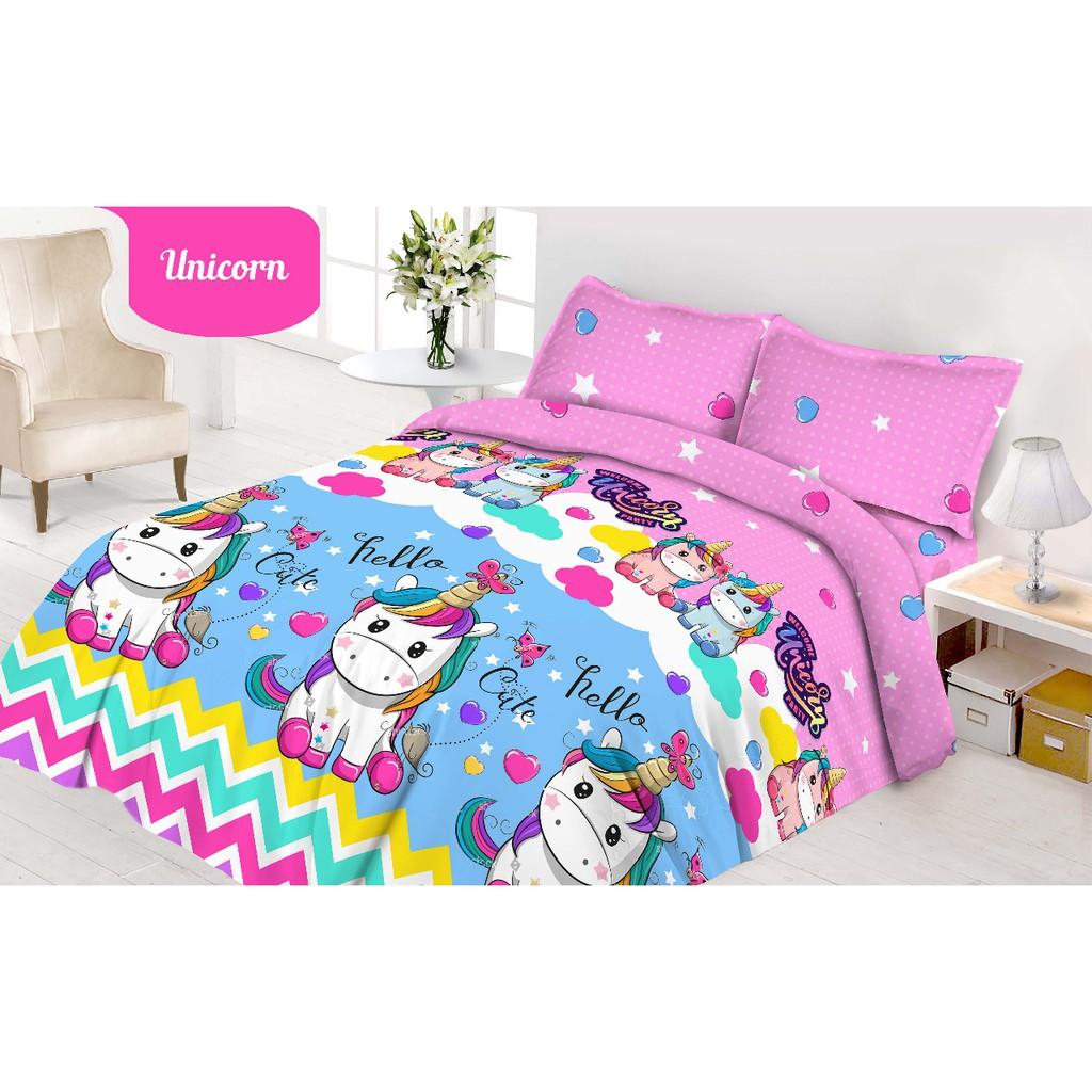 Ww Bed Cover Vito Flat 180 Unicorn 180x200 King Size Rosanna