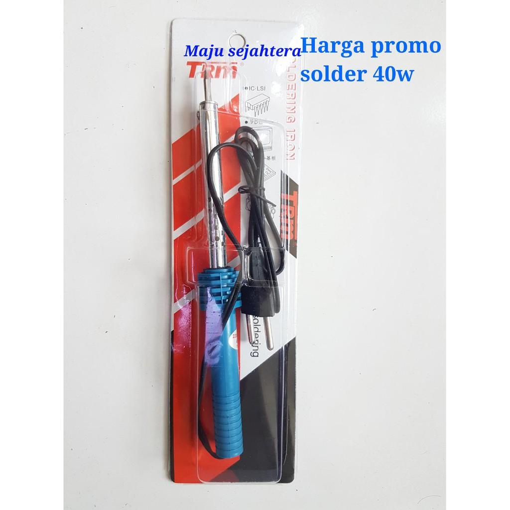 Harga Grosir Solder 40watt Trm Soldering Iron 40w Murah Shopee Gagang Station Men Cowo Indonesia